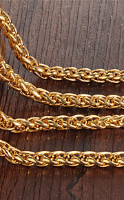 Stainless Steel Plating 18 K Gold Man Necklace