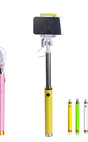 farverige selfie kabel-tilsluttet monopod til iphone6, extendale håndholdt selfie stick med stort spejl
