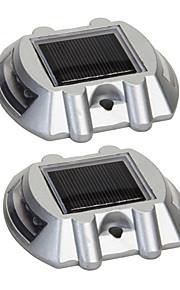 pakke med to aluminiums solar 6-ledede utendørs road oppkjørselen dock banen bakken lys lampe