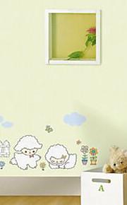 multifunções pvc diy padrão carneiros adesivos decorativos