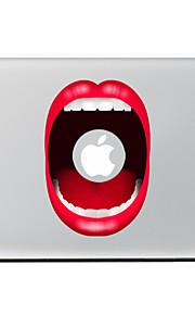 rode lip decoratieve skin sticker voor MacBook Air / Pro / Pro met Retina-display