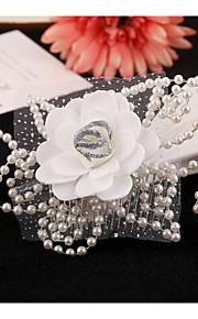 Vintage Charming Design Wedding Bride Handmake Headband Necklace Cown Pearls Hair Accessior Flower Silver Luxurious