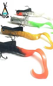 M&X Soft Bait 200mm/45g 4Pcs Bull Dawg Dog Musky Alien Eel Plastic Body Ready to Fish lures Pike Fishing Zander