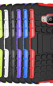 이중 갑옷 하이브리드 TPU&HTC에 대한 PC의 하드 케이스 받침대 중장비 케이스 커버 한 M9 / M8 / 욕망 (510) / 욕망 (610)