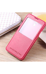 международная версия кожаной тела ПУ открыть окно для Galaxy Note 5 / примечание 4 / примечание 3 / примечание 3 Lite (ассорти цветов)