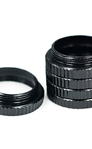 macro preto para estender o anel da lente c anel de interface de macro