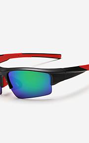 Solbriller menn's Klassisk / Lettvekt / Sport / Polarisert Wrap Svart / Hvit / Rød / Blå Solbriller Halvkant