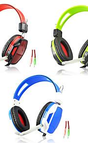 a6 gioco hifi cablato cuffie con microfono in linea&controllo del volume del rumore orecchio bagliore che annulla bassi auricolari