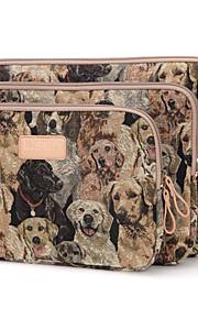 Cute Dog Design 10/11/12inch Canvas Laptop Sleeve Bag Ultrabook  Case for Macbook Lenovo Dell