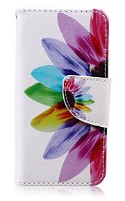 colorato petalo cuoio dell'unità di elaborazione caso tutto il corpo con la protezione dello schermo e supporto per iPod touch 5 / touch 6