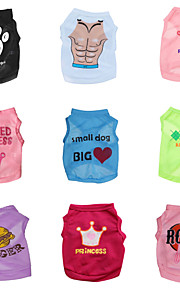 "DroolingDog® ""Six Choose Nine Packaged Sales"" Pattern Polyester fiber Vest for Dogs (Assorted Colors Assorted Sizes)"