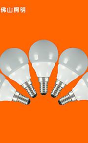 5pcs fsl® e14 3W 3000K-6500k varm / kjølig lys ledet kloden pærer 220v