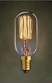 T45 rett wire e14 220 v liten skrue retro lys 40 w