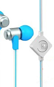 WHF-116 3.5mm Noise-Cancelling Mike In Ear Earphone for Iphone and Other Phones(Assorted Colors)
