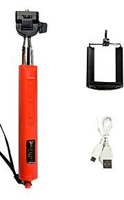 udvides zoomet trådløs bluetooth monopod selfie stick med fjernbetjening lukker foldbar størrelse: 30x12.5x4cm
