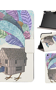 Peacock House Pattern PU Leather Full Body Case with Stand Slot for iPad mini/iPad mini 2/iPad mini 3