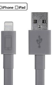 różne kolory MFI certyfikat 8pin piorun do synchronizacji płaski kabel USB / ładowania dla iPhone / plus i więcej 6/6 (150cm)
