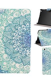 מקרה גוף מלא עור PU תבנית כחולה ולבנה עם חריץ עמדה למיני ipad / מיני iPad 2 / iPad Mini 3