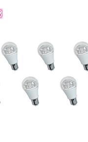 6 шт JS E26 / E27 5 Вт 10 * SMD 3535 400 лм / теплый белый холодный белый декоративный шар лампы переменного тока 85-265 об