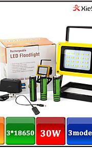 Torch Light Lanternas LED / Lanternas e Luzes de Tenda LED 1600 LUMENS Lumens 3 Modo LED 18650.0 Recarregável / EmergênciaCampismo /