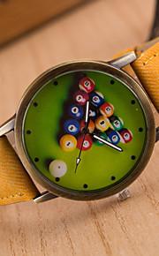 Masculino / Mulheres / Unissex Relógio de Pulso Quartz / Couro Banda Vintage / CasualPreta / Branco / Azul / Vermelho / Marrom / Verde /