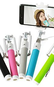 selfie stick monopod med kabel fleksibel håndholdt til mobiltelefon kamera udvides kablede størrelse: 25x6x6cm