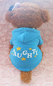 Holdhoney Blue Star Pattern Polar Fleece Hoodies For Pets Dogs (Assorted Sizes) #LT15050235