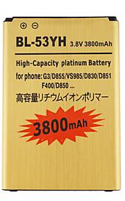 3800 - LG - LG G3 - vervang batterij - BL-53YH-GD - Nee - Universeel -