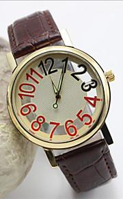 mænds mode læder band kvarts anolog armbåndsur (assorterede farver)