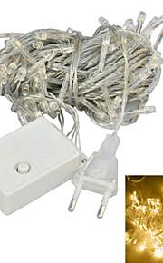 JIAWEN® 10 M 100 Dip Led 웜 화이트 연결가능 4 W 스트링 조명 AC220 V