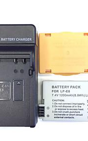 ons 8.4V LP-E8 thuisoplader + (1) batterij voor Canon 550D 600D 650D 700D