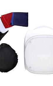 mini fotostudie bløde boks skydning telt softbox terning boks, 60 x 60cm foto lys telt + bærbar taske + 4 baggrunde