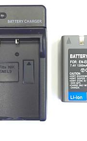 US / UK / EU 8.4v EN-EL9 / EL9a thuisoplader + (1st) batterij voor de Nikon D5000 D3000 d60 d40 D40x