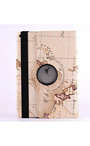 World Map 360⁰ Case Design Stand Function High Quality PU Leather Bag For iPad Air (Assorted Color)