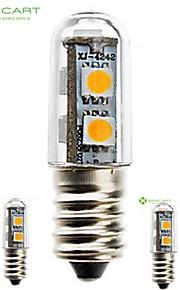 5 × E14 1.5W은 (220V) 5050 SMD의 120lm 따뜻한 화이트 / 차가운 백색 빛이 냉장고 촛불 침대 옥수수 LED 전구 7LED
