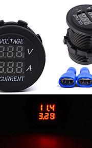DC 12V-24V Digitalvoltmeter Ladegeräte Strommesser wasserdicht Marine Motorrad Auto Auto Auto Boot Buchse Boot LKW