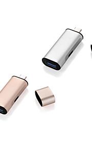 adaptador de carga de tipo c usb 1 * usb 3.0 + 1 * Puerto USB Tipo-c de carga para el macbook