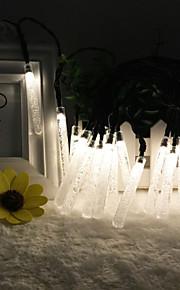solenergi utendørs lys 8.5m 20led streng lys til jul bryllupsfesten lys