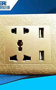 usb opladen socket goed (n7g gesneden gouden wereldwijde unlversal)