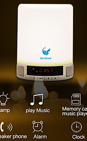 Oldshark® Portable Multifunctional Wireless Bluetooth Speaker Handsfree Touch LED Bedroom Lamp Alarm Clock