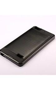 armadura franja trefilado estuche rígido de la PC + de silicona cubierta de piel para Huawei honor a 6 más / el honor 6 / compañera 7 / 4c