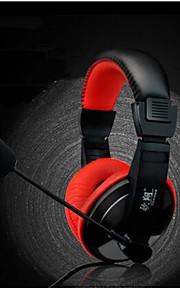 over-ear headphone jogo gaming headset fone de ouvido estéreo com graves cabeça microfone para pc jogo