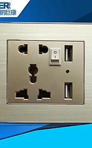usb opladen socket goed (L6 aluminiumdraad tekening wereldwijde universele)