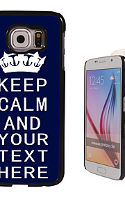 Personalized Case - Blue Keep Calm Design Metal Case for Samsung Galaxy S6/ S6 edge/ note 5/ A8 and others