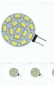 5 x G4 / MR11/ GU4 / GZ4  7.5W 15x5630SMD  Warm White/ White 900LM Led Light Bulbs (9-36V AC/DC)