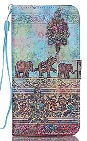 elefant mønster pu lær materiale flip-kort for Samsung Galaxy Note 5