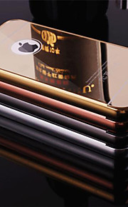 plating speil tilbake med metallramme telefon tilfelle for iphone 5c (assorterte farger)