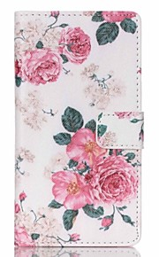 Peony Flower Painted PU Phone Case for Sony Xperia Z5