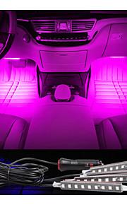 bil dekorative atmosfære lampe kostnad ført innvendig gulv dekorasjon lys med mini dimmer ledet ensfargede 4stk