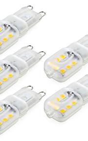 4W G9 LED-lamper med G-sokkel T 14 SMD 2835 300-400 lm Varm hvit / Kjølig hvit Dimbar / Dekorativ AC 220-240 / AC 110-130 V 5 stk.